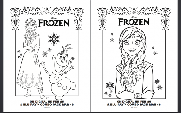 Free Frozen Anna Elsa Olaf Coloring Pages Printables