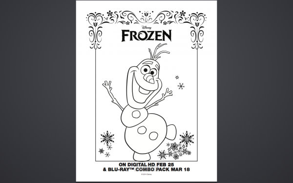 Free Olaf Frozen Coloring Pages Printable