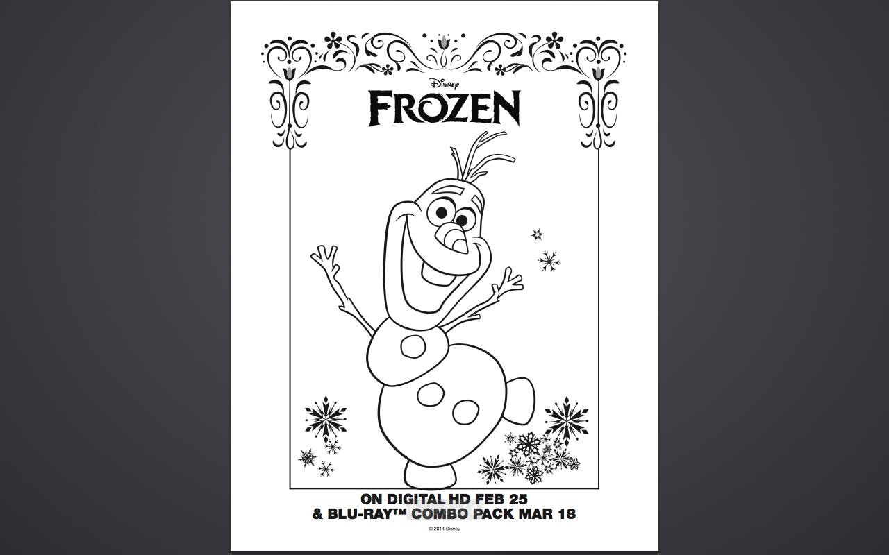 Free coloring pages printable frozen - Free Olaf Frozen Coloring Pages Printable