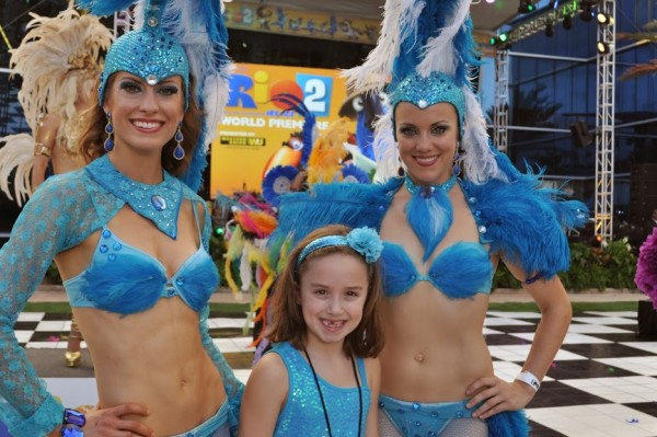 Rio 2 Samba Dancers with Kenzie