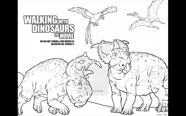 Walking with Dinosaurs Free Printable Coloring Pages