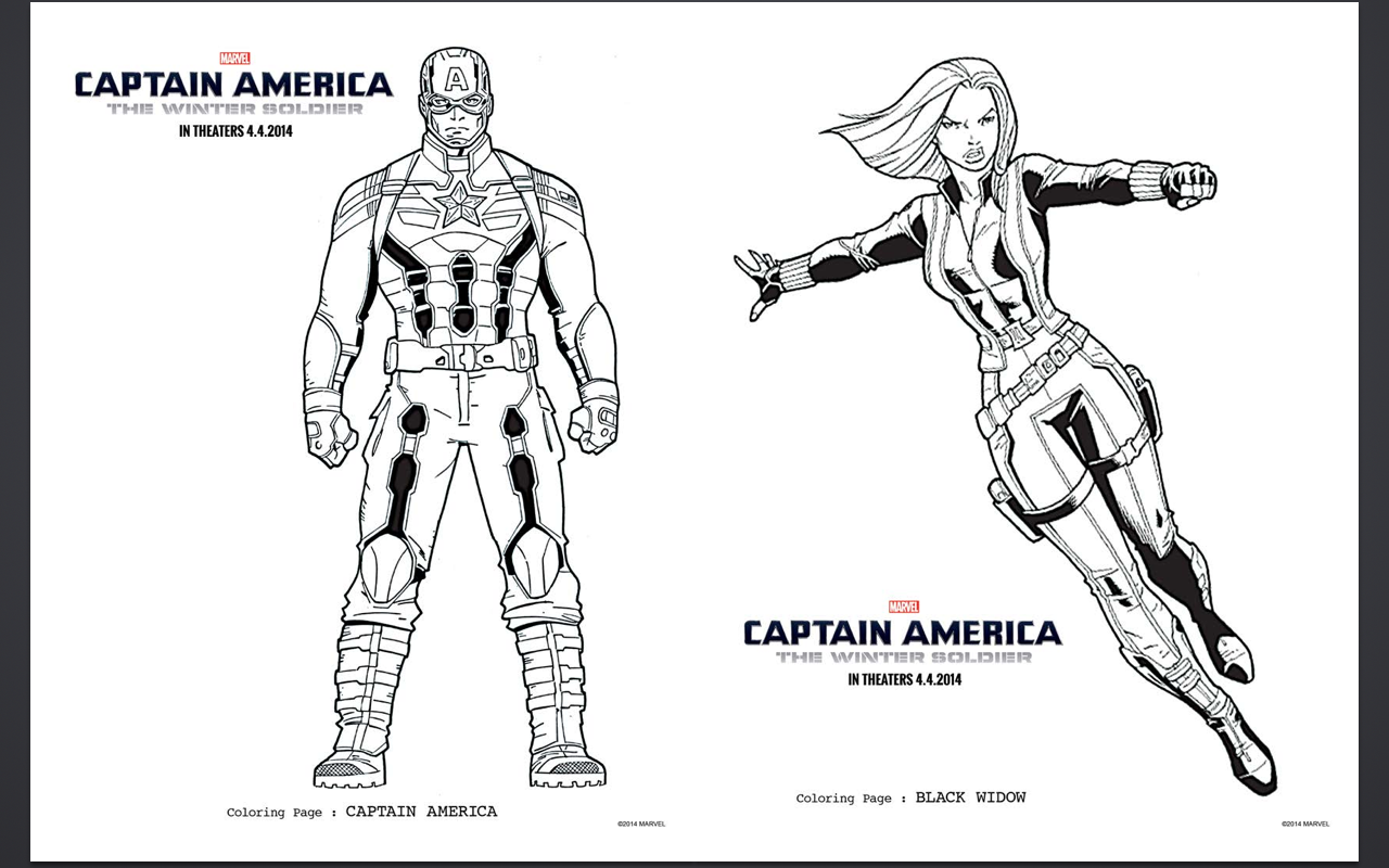 15 Free Captain America Coloring Pages