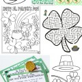 St Patrick's Day Free Printables Coloring Pages Activity Sheets