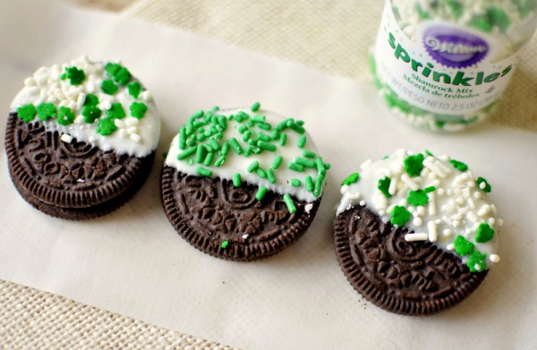 shamrock white chocolate oreo St. Patrick's Day