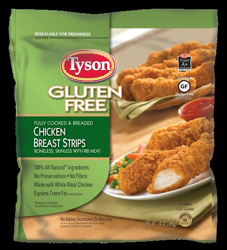 Precooked Frozen Chicken Breast Strips Tyson Brand