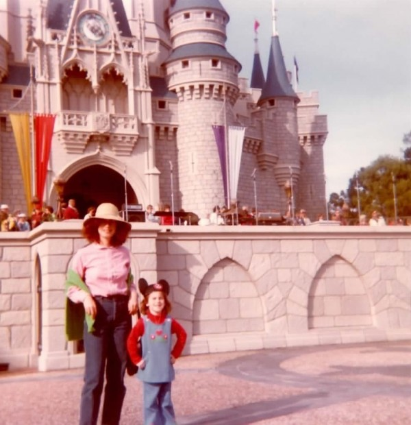 Disney with Mom at age 4