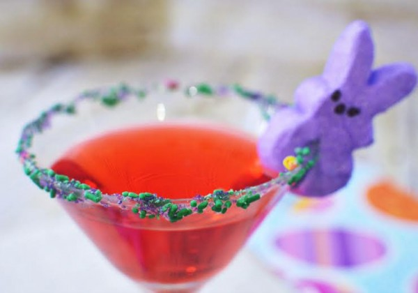 Easter Drink Inspiration Purple bunny Peeptini