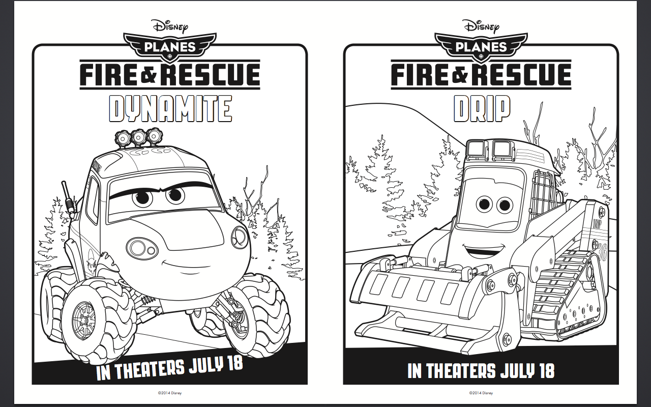 Disney Planes Fire and Rescue Coloring Pages and Activity Sheets