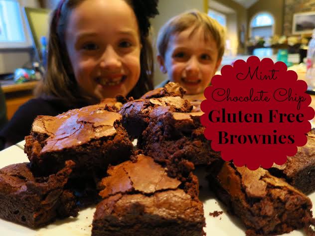 #GlutenFree Amazing Super Easy Mint Chocolate Chip Gluten Free Brownies