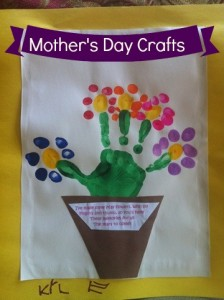 Mother's Day Crafts with Fingerprints