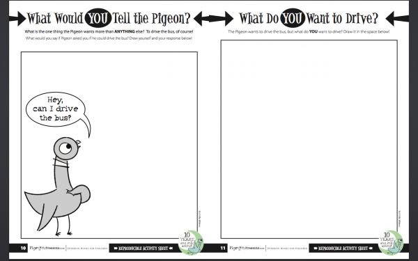 Free Pigeon Activity Sheets