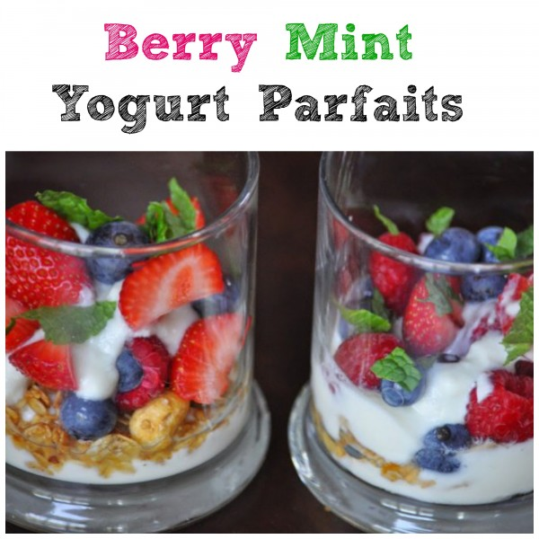 Berry Mint Yogurt Parfait #glutenfree