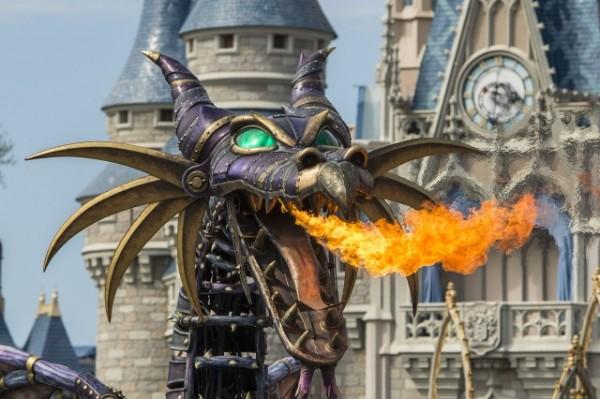 Maleficent Disney of Fantasy Parade