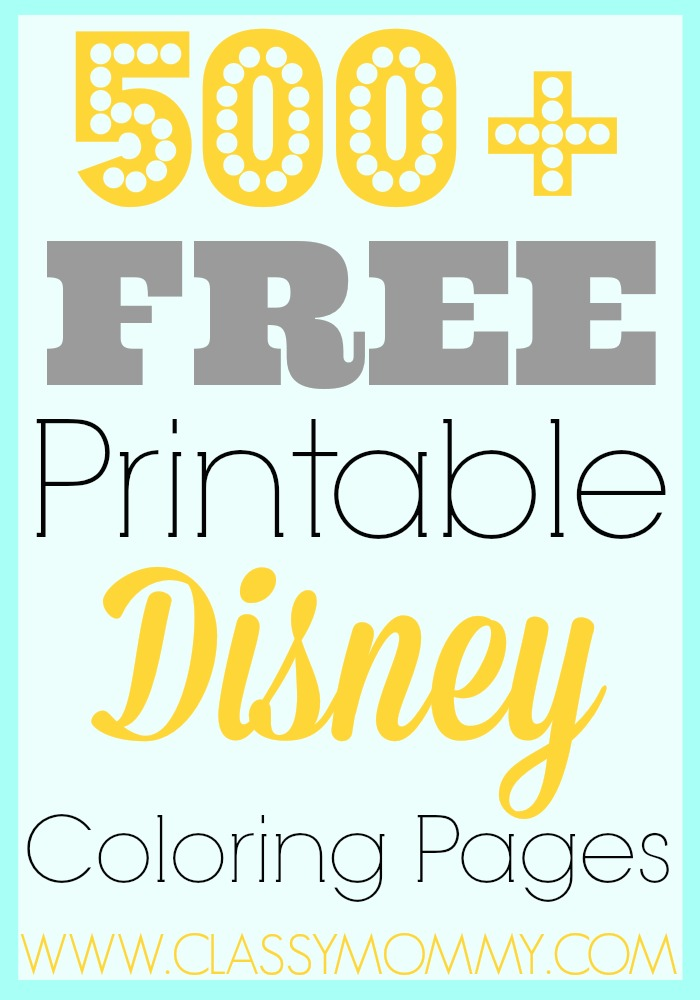 9 Free Printable Disney Coloring Pages
