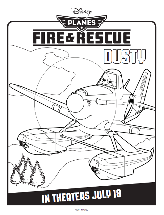 Free Printable Disney Planes Coloring Pages
