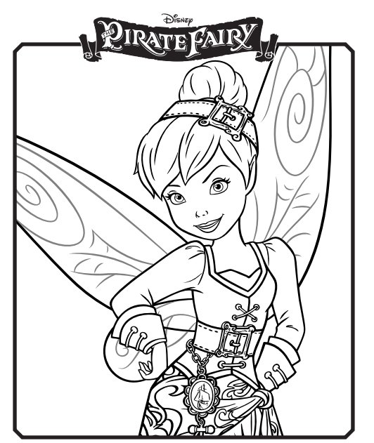 Free Printable Disney Pirate Fairy Coloring Pages