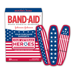 Band Aid Patriotic style Veterans