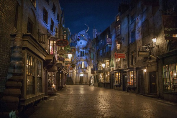 Diagon Alley night view