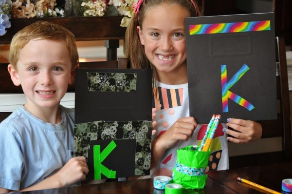 DIY back to school folders and supplies