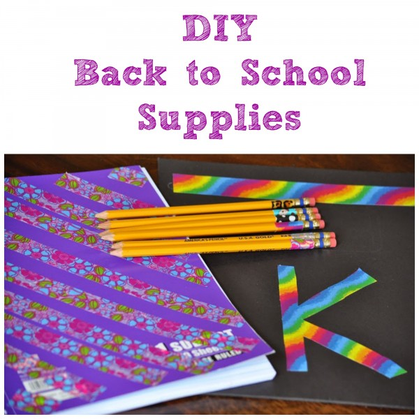 DIY Back to School Supplies with Duck Tape via ClassyMommy.com