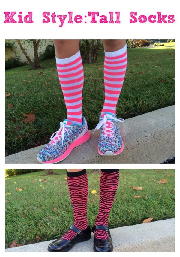 Trend Alert: Kid Fashion Tall Socks for Girls
