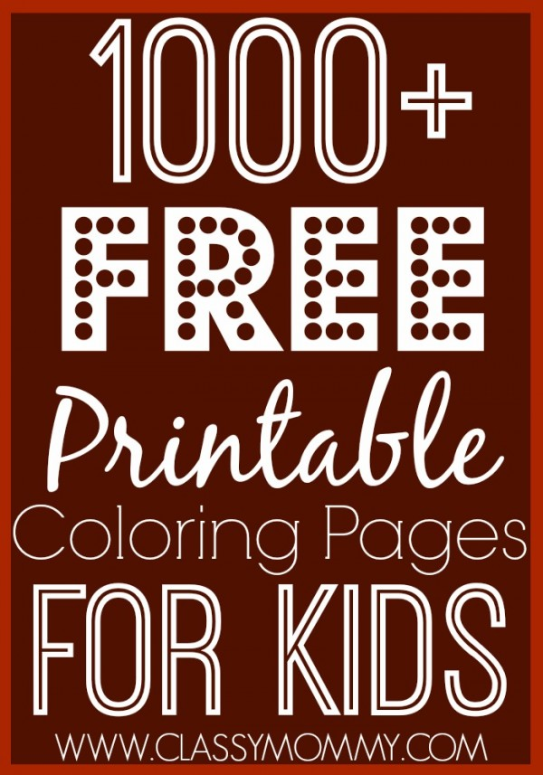 Over 1000 Free Printable Coloring Pages for Kids