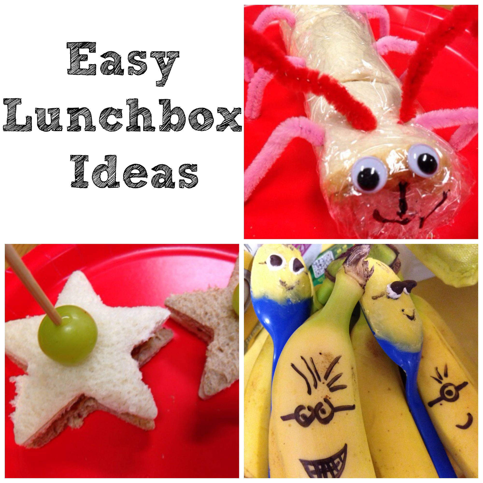 Super Simple Easy Creative back to school lunchbox ideas
