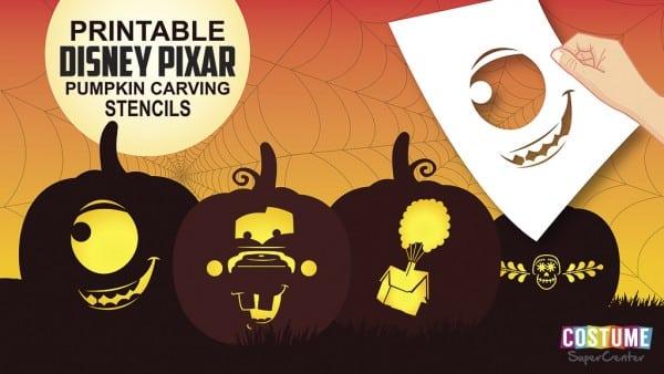 Free PIXAR Pumpkin Carving Stencils