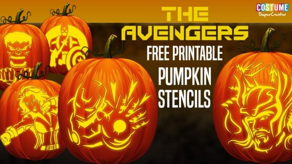 Free Printable Avengers Pumpkin Carving Stencils