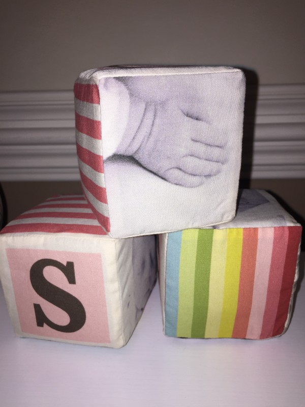 Coo Cubes personalized plush baby blocks