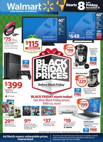 Walmart Pre Black Friday Sales Event Circular