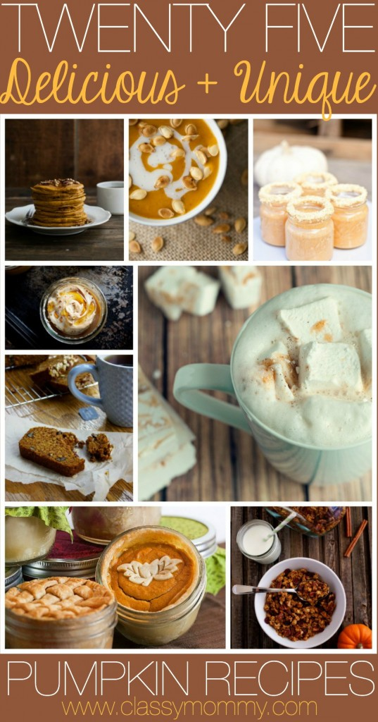 25 delicious and unique pumpkin recipes