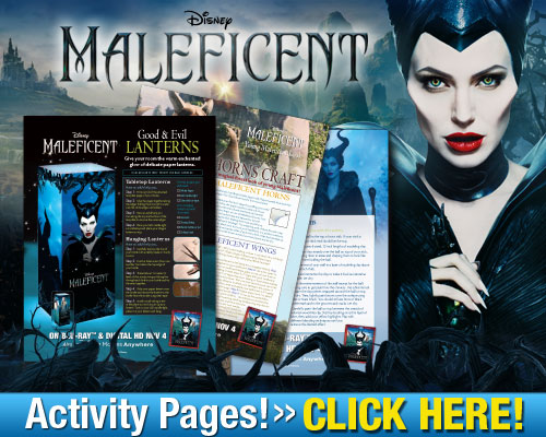 free maleficent activity pages