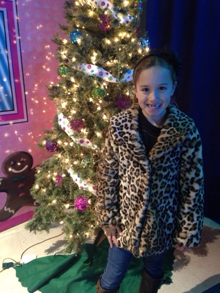 Guess Kids Leopard Faux Fur Jacket