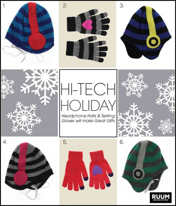 Headphone Hats and Texting Gloves from RUUM