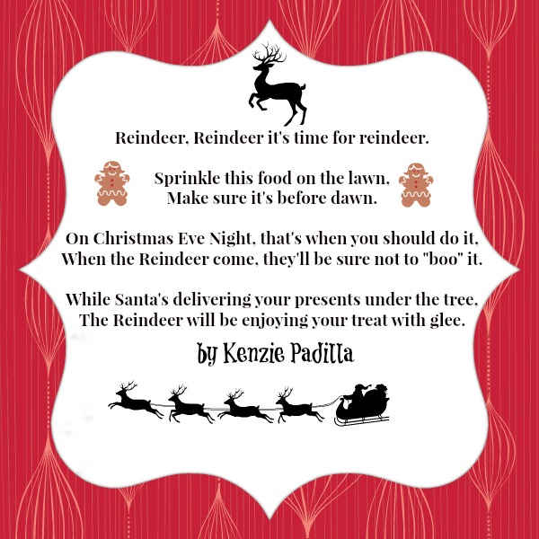image regarding Reindeer Food Poem Printable identify Magic Reindeer Recipe and Printable Poem