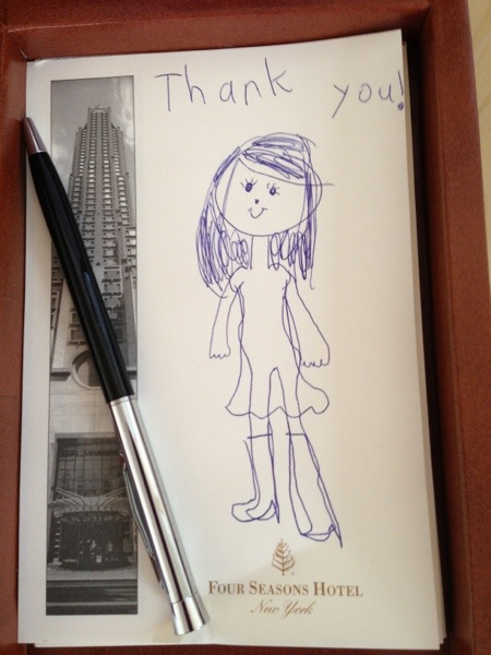 thank you note for four seasons staff