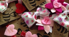 Valentine's Day Card Idea Super Cute Hair clips and bows