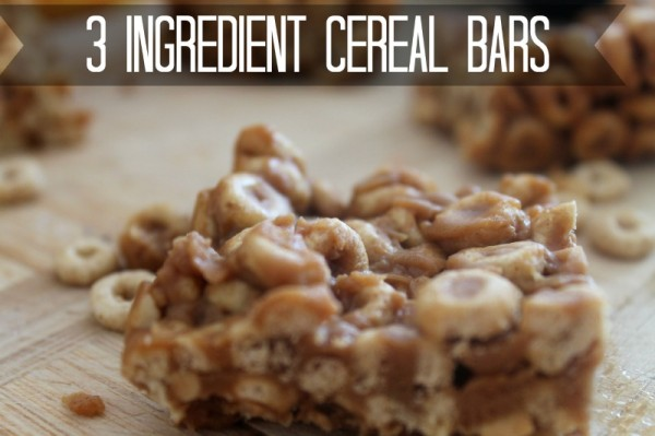 Easy to Make 3 Ingredient Cereal Bars Recipe