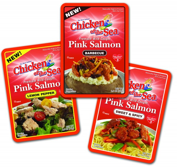 Salmon flavors Chicken of the Sea