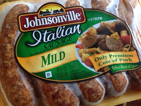 Keeping ground or links of Johnsonville sausage in my freezer is a ...