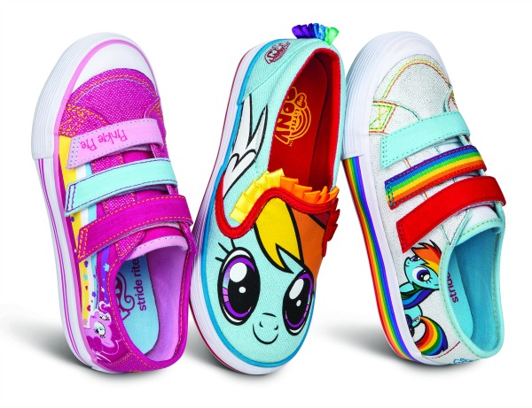 Marvel Super Hero Shoes and My Little Pony Styles from Stride Rite