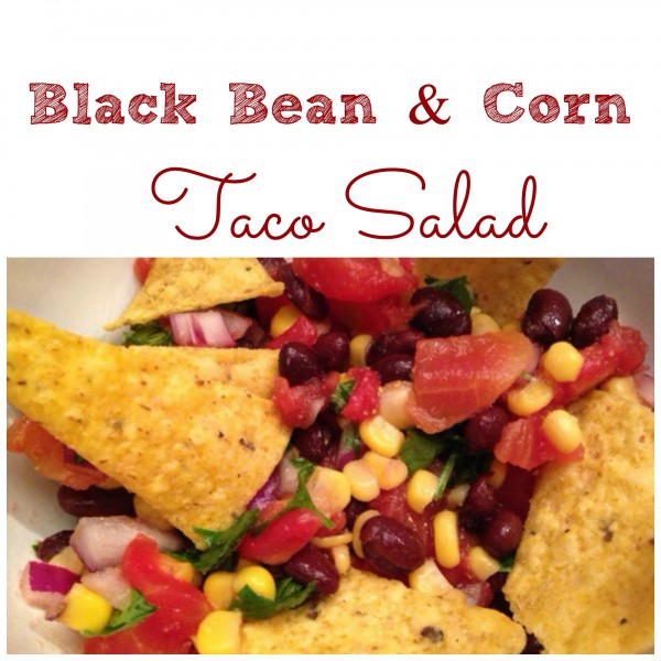 black bean and corn taco salad recipe