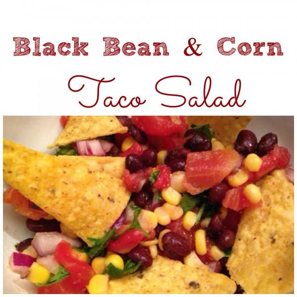 black bean and corn taco salad recipe