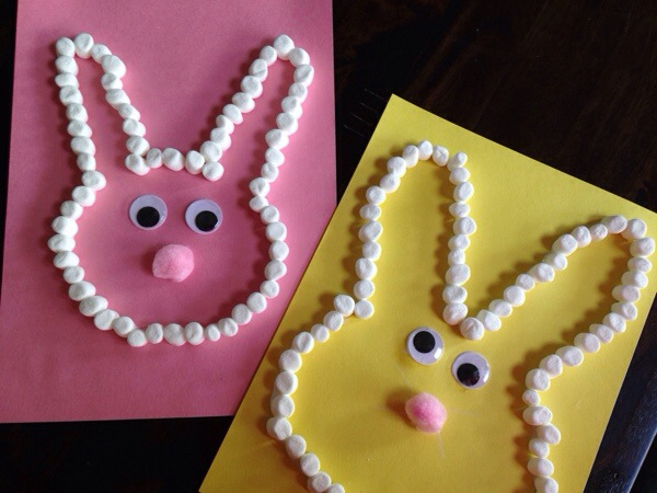 Easy Easter Bunny Marshmallow Craft