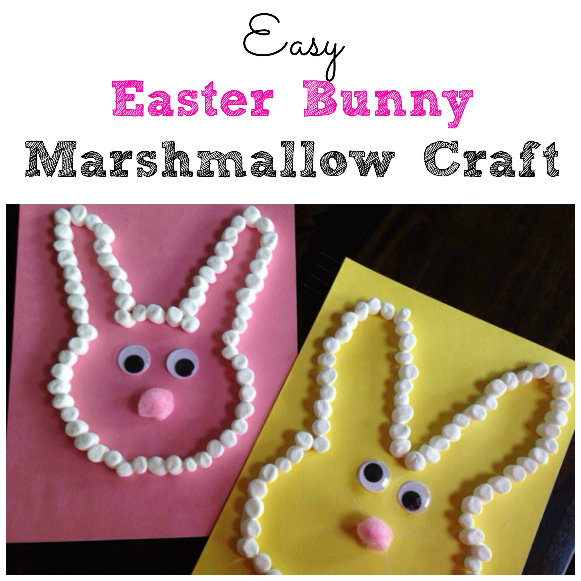 Easy easter bunny marshmallow craft for Simply crafts