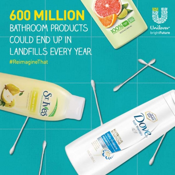 600 million bathroom products end up in landfills every year!