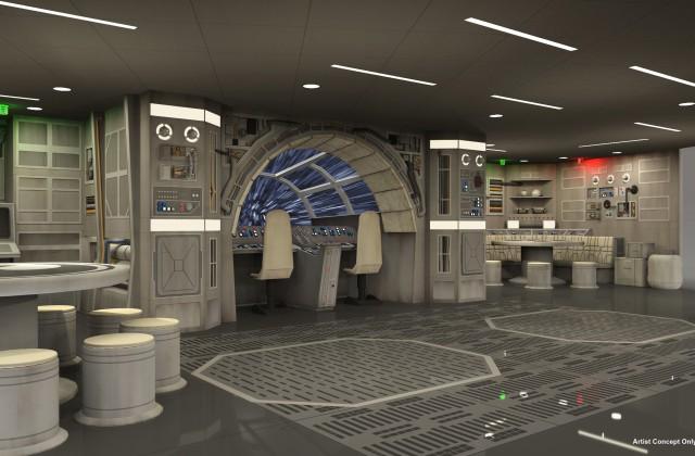 Star-Wars-Millennium-Falcon on the Disney Dream