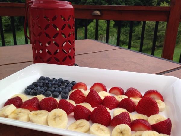 4th of July Fruit Flag Platter