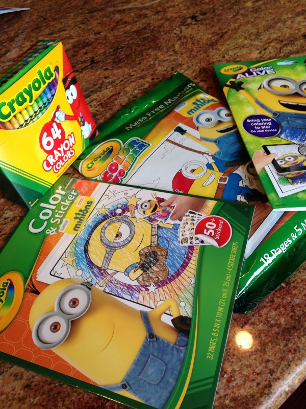 minions color alive scoop - Crayola Color Alive Pages Minions